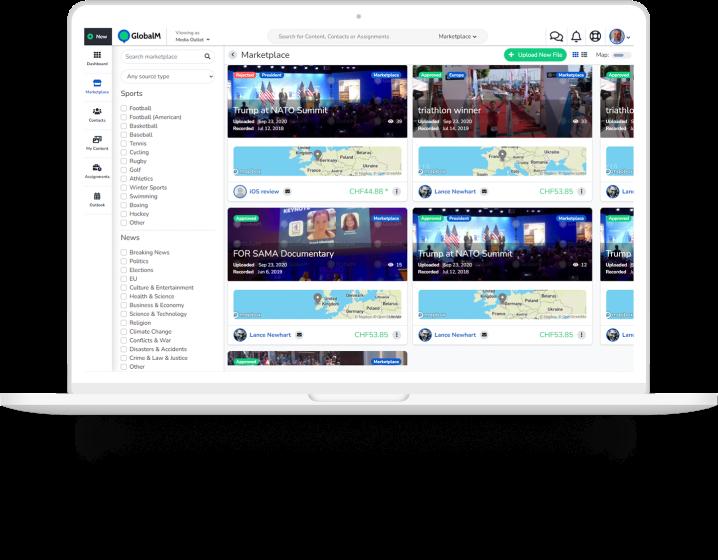 GlobalM App on Macbook