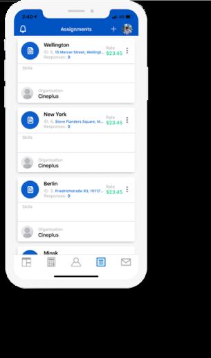 GlobalM App on iPhone